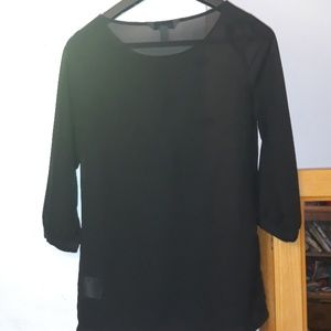 Old Navy Tops - Old Navy Size XS Sheer & Sequin Black Blouse